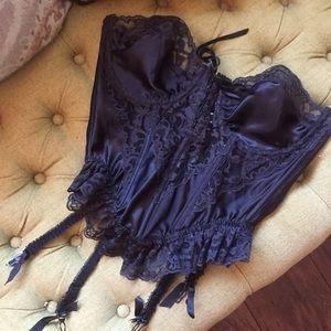 Vtg Gold Lbl Victoria's Secret Bustier Garter 36C
